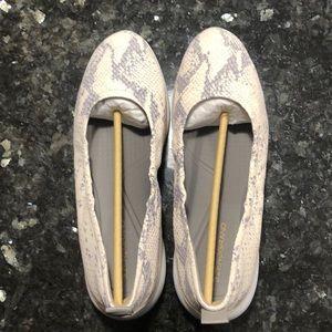 NEW snake skin 3.Zerogrand ruched ballet flats